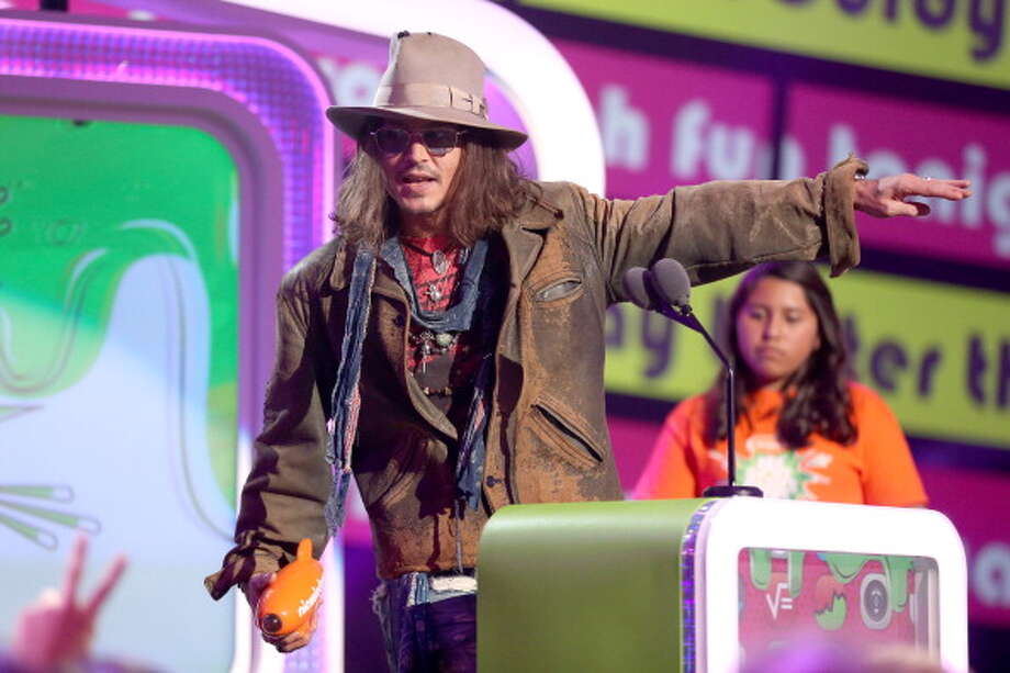 LOS ANGELES, CA - MARCH 23:  Actor Johnny Depp accepts the Kids' Choice Award for Favorite Movie Actor onstage during Nickelodeon's 26th Annual Kids' Choice Awards at USC Galen Center on March 23, 2013 in Los Angeles, California.  (Photo by Christopher Polk/KCA2013/Getty Images for KCA) Photo: Christopher Polk/KCA2013, Getty Images For KCA / Getty Images