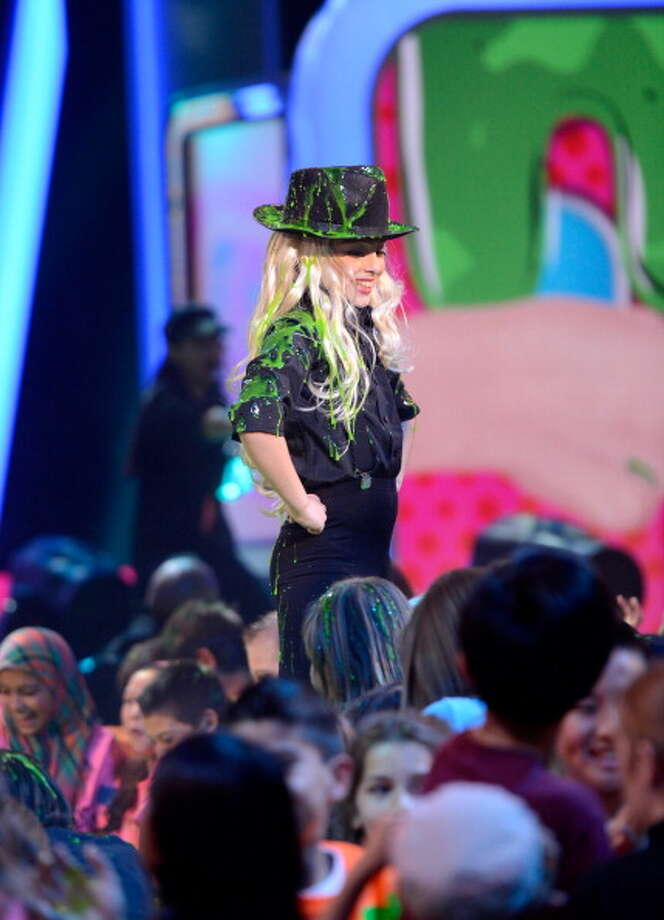 LOS ANGELES, CA - MARCH 23:  One of Christina Aguilera's dancers performs during Nickelodeon's 26th Annual Kids' Choice Awards at USC Galen Center on March 23, 2013 in Los Angeles, California.  (Photo by Kevin Mazur/KCA2013/WireImage) Photo: Kevin Mazur/KCA2013, WireImage / Getty Images