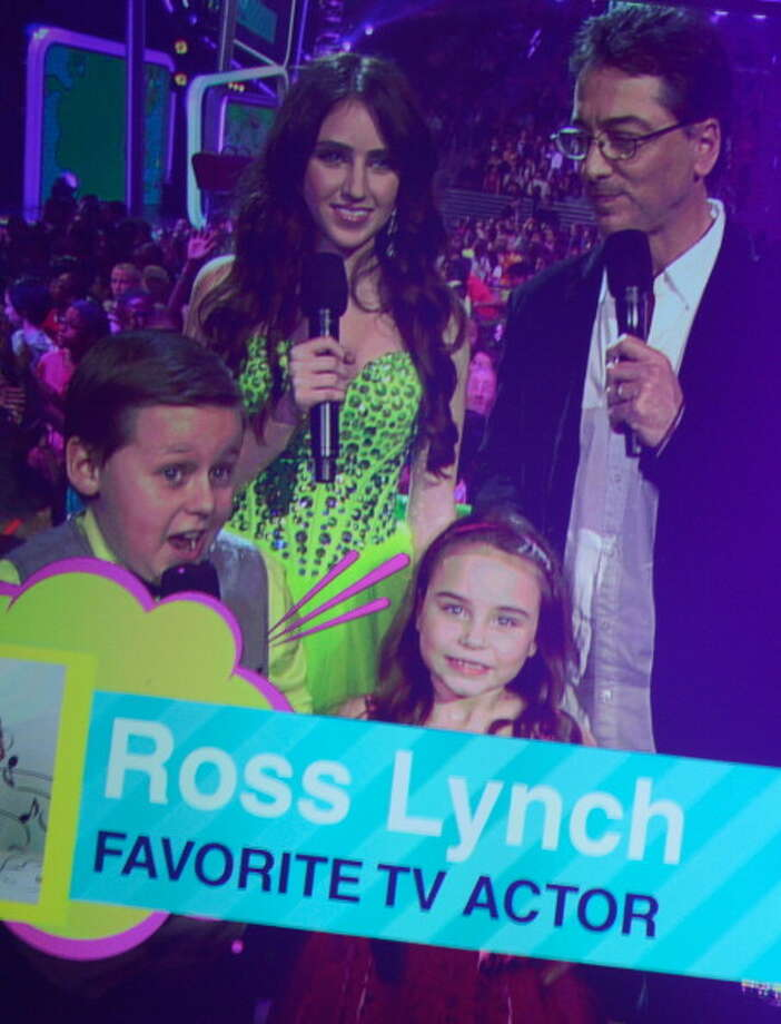 LOS ANGELES, CA - MARCH 23:  (L-R) Actors Jackson Brundage, Ryan Newman, Scott Baio and Bailey Michelle Brown present the Favorite TV Actor Award  during Nickelodeon's 26th Annual Kids' Choice Awards at USC Galen Center on March 23, 2013 in Los Angeles, California.  (Photo by Kevork Djansezian/Getty Images for KCA) Photo: Kevork Djansezian, Getty Images For KCA / Getty Images