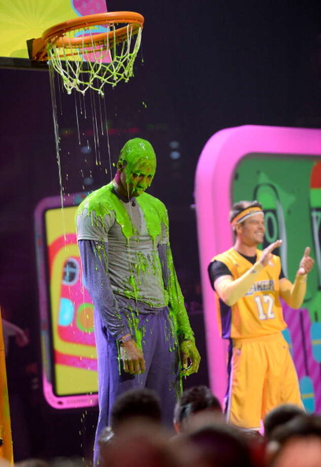 LOS ANGELES, CA - MARCH 23:  NBA player Dwight Howard (L) and host Josh Duhamel perform during Nickelodeon's 26th Annual Kids' Choice Awards at USC Galen Center on March 23, 2013 in Los Angeles, California.  (Photo by Kevin Mazur/KCA2013/WireImage) Photo: Kevin Mazur/KCA2013, WireImage / Getty Images