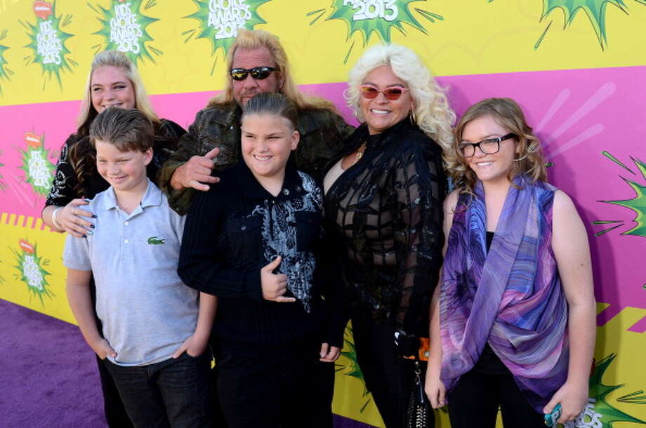 LOS ANGELES, CA - MARCH 23:  TV personality Duane 'Dog' Chapman (C) and family arrive Nickelodeon's 26th Annual Kids' Choice Awards at USC Galen Center on March 23, 2013 in Los Angeles, California.  (Photo by Jeff Kravitz/FilmMagic) Photo: Jeff Kravitz, FilmMagic / Getty Images