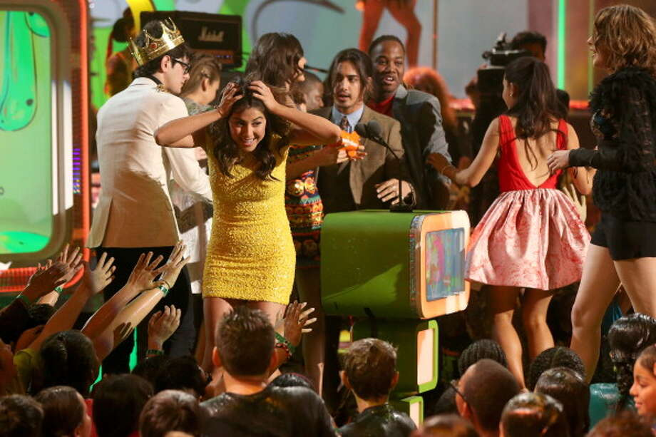 LOS ANGELES, CA - MARCH 23:  Actors Matt Bennett,  Daniella Monet, Victoria Justice, Avan Jogia,  Leon Thomas III and Ariana Grande attend Nickelodeon's 26th Annual Kids' Choice Awards at USC Galen Center on March 23, 2013 in Los Angeles, California.  (Photo by Christopher Polk/KCA2013/Getty Images for KCA) Photo: Christopher Polk/KCA2013, Getty Images For KCA / Getty Images