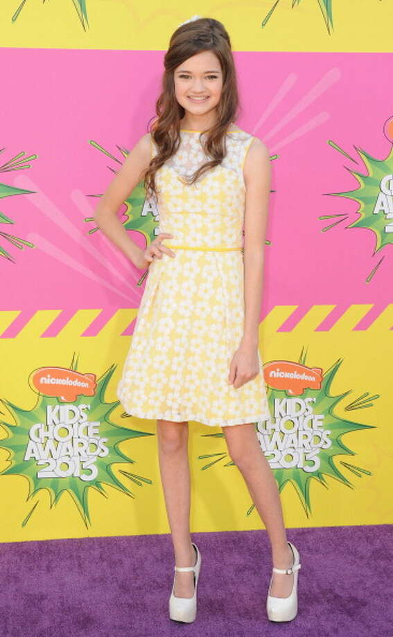 LOS ANGELES, CA - MARCH 23:  Actress Ciara Bravo arrives at Nickelodeon's 26th Annual Kids' Choice Awards at USC Galen Center on March 23, 2013 in Los Angeles, California.  (Photo by Jon Kopaloff/FilmMagic) Photo: Jon Kopaloff, FilmMagic / Getty Images