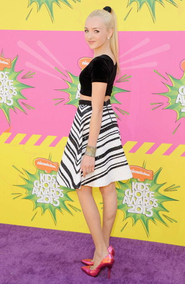 LOS ANGELES, CA - MARCH 23:  Actress Peyton List arrives at Nickelodeon's 26th Annual Kids' Choice Awards at USC Galen Center on March 23, 2013 in Los Angeles, California.  (Photo by Jon Kopaloff/FilmMagic) Photo: Jon Kopaloff, FilmMagic / Getty Images