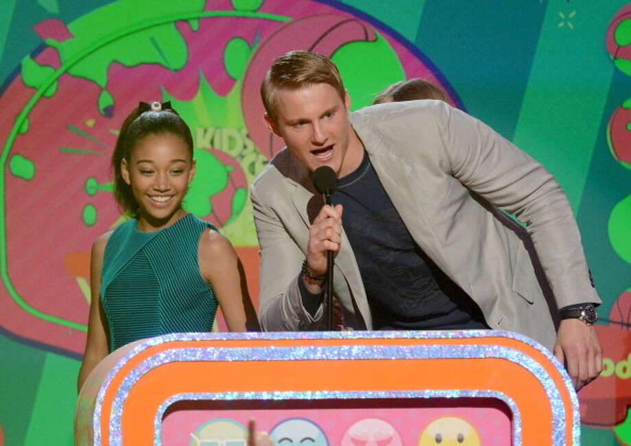 LOS ANGELES, CA - MARCH 23:  (L-R) Actors Alexander Ludwig and Amandla Stenberg speak onstage at Nickelodeon's 26th Annual Kids' Choice Awards at USC Galen Center on March 23, 2013 in Los Angeles, California.  (Photo by Jeff Kravitz/FilmMagic) Photo: Jeff Kravitz, FilmMagic / Getty Images
