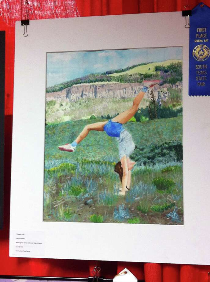 Take a look at the artwork by local school children featured at the Southeast Texas State Fair this year. Photo: Ioanna Makris