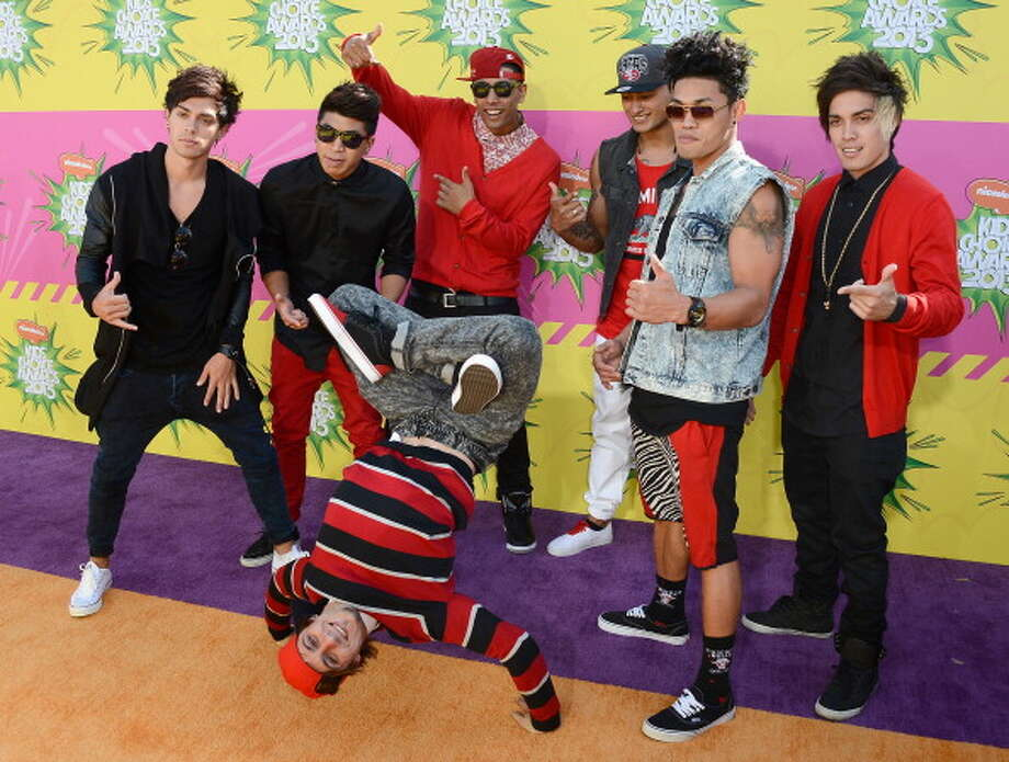 LOS ANGELES, CA - MARCH 23:  Australian hip-hop dance and pop music group Justice Crew arrives at Nickelodeon's 26th Annual Kids' Choice Awards at USC Galen Center on March 23, 2013 in Los Angeles, California.  (Photo by Frazer Harrison/Getty Images for KCA) Photo: Frazer Harrison, Getty Images For KCA / Getty Images