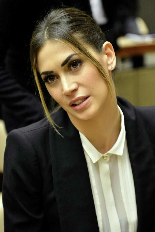 Melissa Satta, girlfriend of AC Milan soccer player  Kevin-Prince Boateng, attends a panel  discussion on Racism and Sport, during the World Humanitarian Day, at the European headquarters of the United Nations in Geneva, Switzerland, Thursday, March 21, 2013. Photo: AP