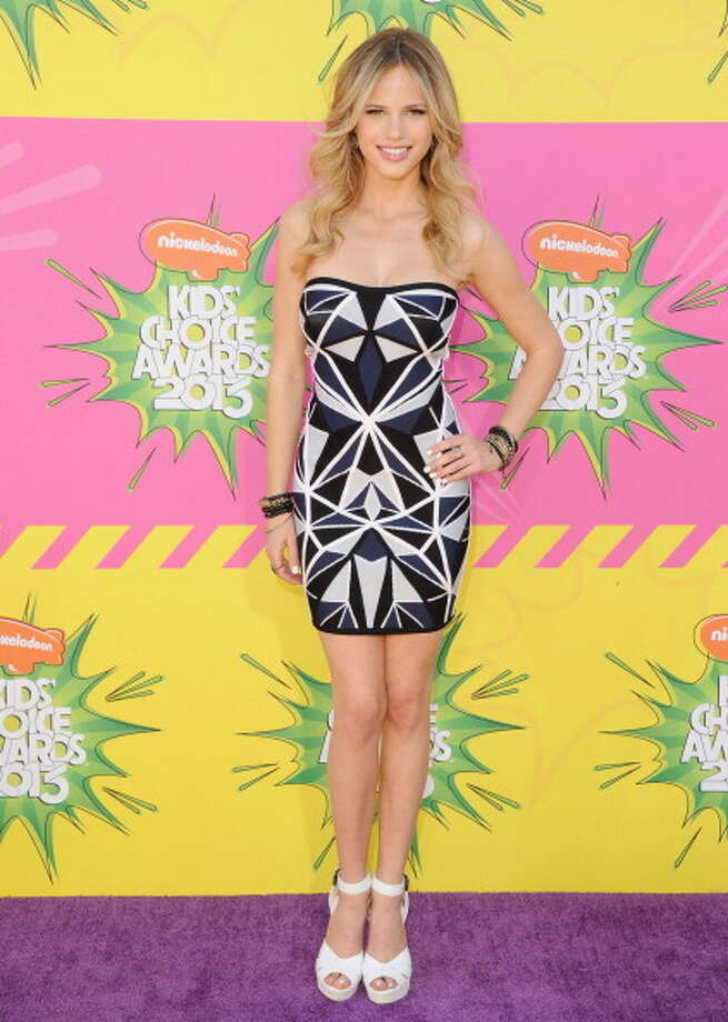 LOS ANGELES, CA - MARCH 23:  Actress Halston Sage arrives at Nickelodeon's 26th Annual Kids' Choice Awards at USC Galen Center on March 23, 2013 in Los Angeles, California.  (Photo by Jon Kopaloff/FilmMagic) Photo: Jon Kopaloff, FilmMagic / Getty Images