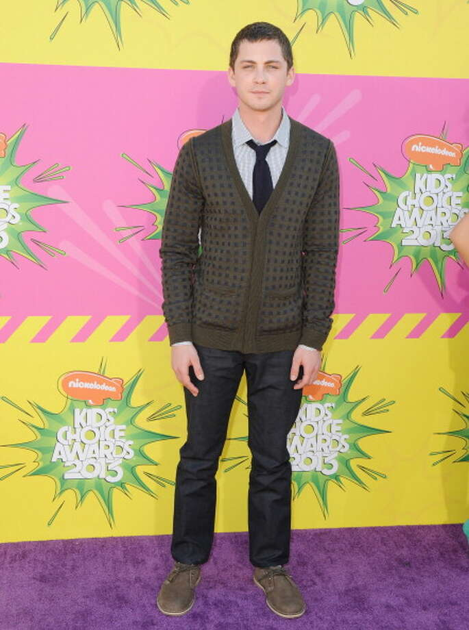 LOS ANGELES, CA - MARCH 23:  Actor Logan Lerman arrives at Nickelodeon's 26th Annual Kids' Choice Awards at USC Galen Center on March 23, 2013 in Los Angeles, California.  (Photo by Jon Kopaloff/FilmMagic) Photo: Jon Kopaloff, FilmMagic / Getty Images