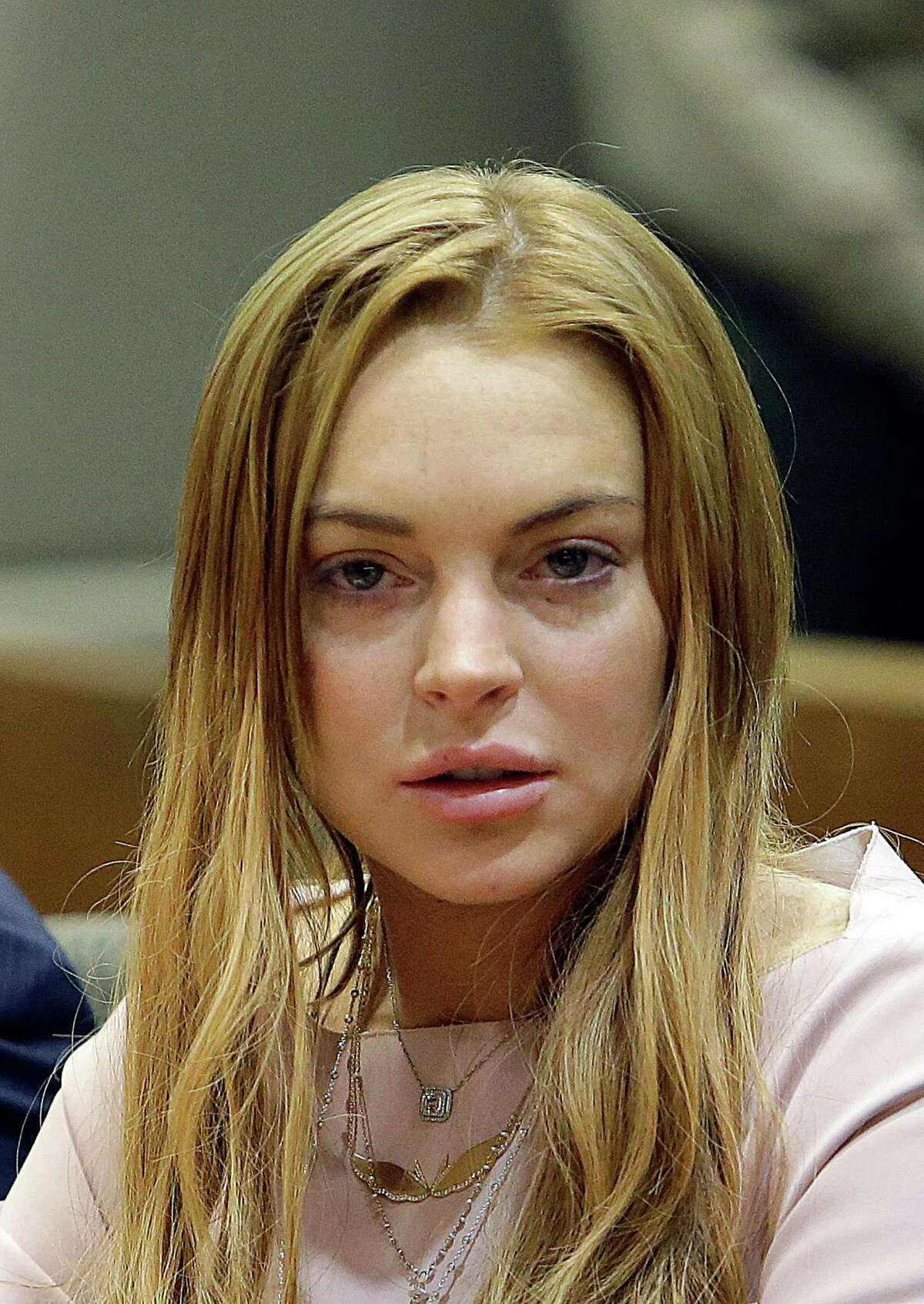 Actress Lindsay Lohan appears at a hearing in Los Angeles Superior Court on Monday.