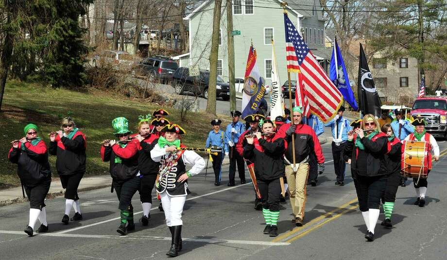 The Connecticut Rebels of 76 march in Danbury's St. Patrick's Day Parade and Danbury Whalers Commissioner's Cup victory celebration Sunday, March 24, 2013 in Conn. Photo: Michael Duffy / The News-Times