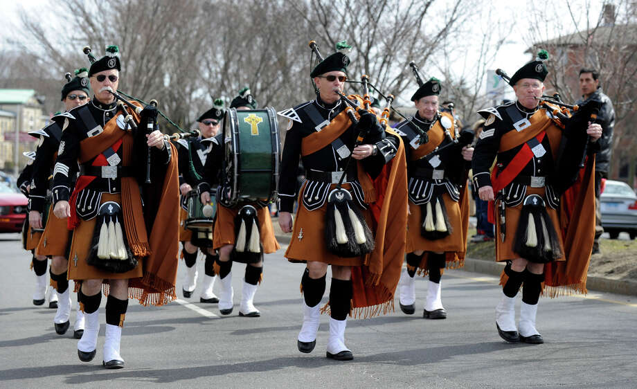 Parade steps off from the Danbury War Memorial at 2 p.m. Sunday, March 23, and end at the Greater Danbury Irish Cultural Center, where food will be available. Photo: Carol Kaliff / The News-Times