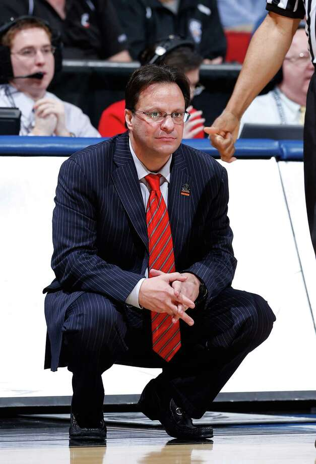 DAYTON, OH - MARCH 24:  Head coach Tom Crean of the Indiana Hoosiers looks on from the sideline in the first half against the Temple Owls during the third round of the 2013 NCAA Men's Basketball Tournament at UD Arena on March 24, 2013 in Dayton, Ohio. Photo: Joe Robbins, Getty Images / 2013 Getty Images