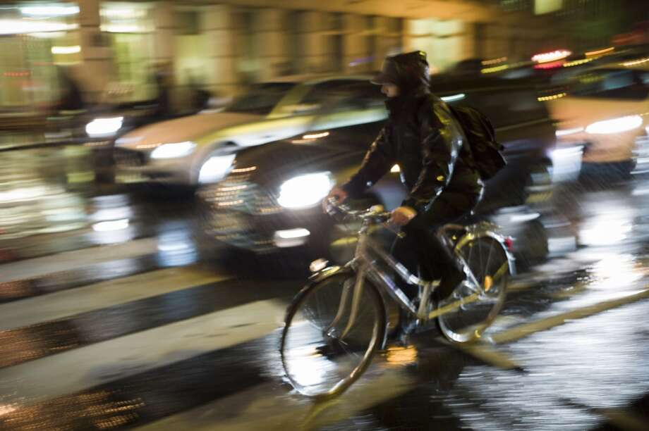 But think it's okay to ride in dark clothes at night in the rain, which pretty much makes you invisible to drivers.