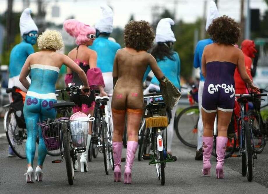 Have ever biked naked. (Fremont Solstice Parade).