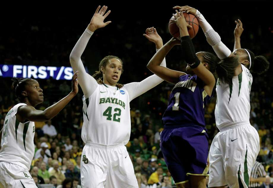 Brittney Griner may be the most unstoppable force women's hoops has ever seen. (AP Photo/Tony Gutierrez) Photo: Tony Gutierrez, Associated Press / AP