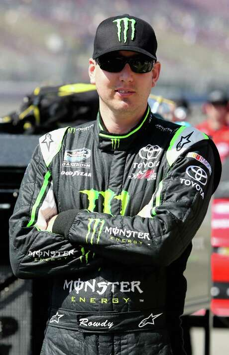 FONTANA, CA - MARCH 23:  Kyle Busch, driver of the #54 Monster Energy Toyota, stands on the grid during qualifying for the NASCAR Nationwide Series Royal Purple 300 at Auto Club Speedway on March 23, 2013 in Fontana, California.  (Photo by Jerry Markland/Getty Images) Photo: Jerry Markland, Stringer / 2013 Getty Images
