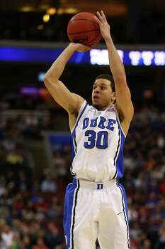 Duke 66, Creighton 50PHILADELPHIA, PA - MARCH 24:  Seth Curry #30 of the Duke Blue Devils shoots the ball against the Creighton Bluejays during the third round of the 2013 NCAA Men's Basketball Tournament at Wells Fargo Center on March 24, 2013 in Philadelphia, Pennsylvania. Photo: Elsa, Getty Images / 2013 Getty Images