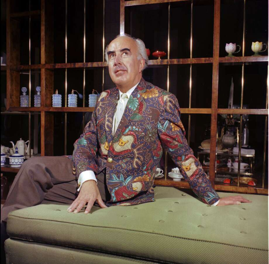 A 1967 picture of John Doyle Bishop taken in his penthouse at the Washington Athletic Club. The colorful jacket he is wearing is part of the collection at the Museum of History and Industry. Photo: Cary Tolman/Seattle Post-Intelligencer Collection/MOHAI/1986.5.19083.2