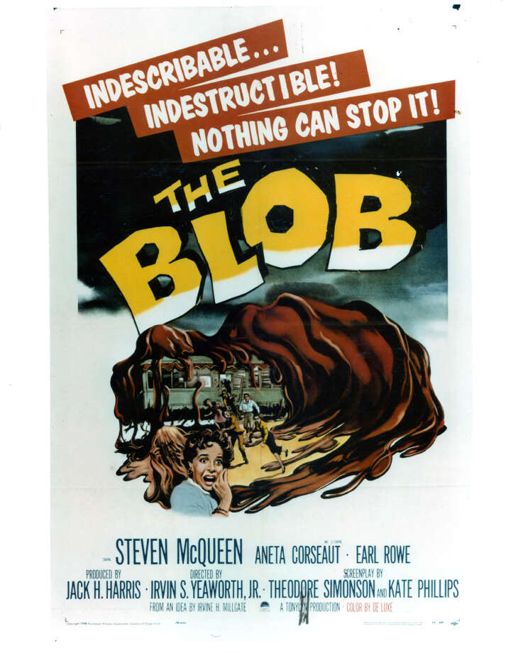 Movie art for the film 'The Blob', 1958. Photo: Archive Photos, Getty Images / 2012 Getty Images