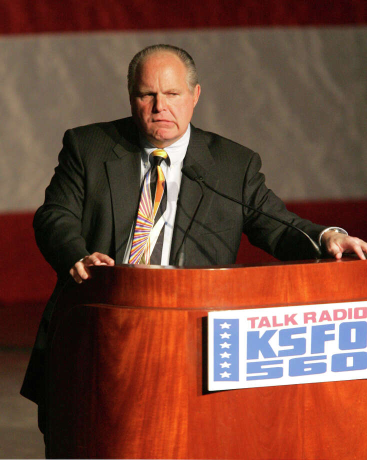 Rush Limbaugh at the San Jose Civic Auditorium in San Jose, California (suggested by mb4maybe) Photo: John Medina, WireImage / WireImage