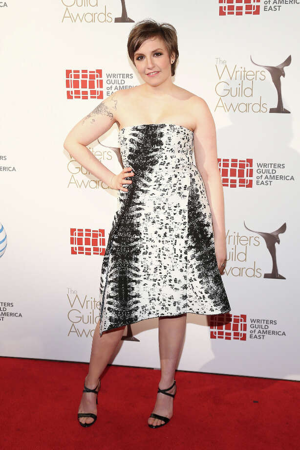 Filmmaker Lena Dunham attends the 65th annual Writers Guild East Coast Awards at B.B. King Blues Club & Grill on February 17, 2013 in New York City. (suggested by reystjohn) Photo: Neilson Barnard, Getty Images / 2013 Getty Images