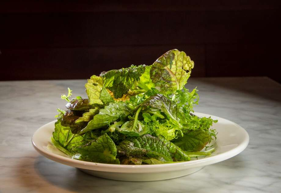 The Mustard Green salad with Lemon and Herbs at Belcampo.
