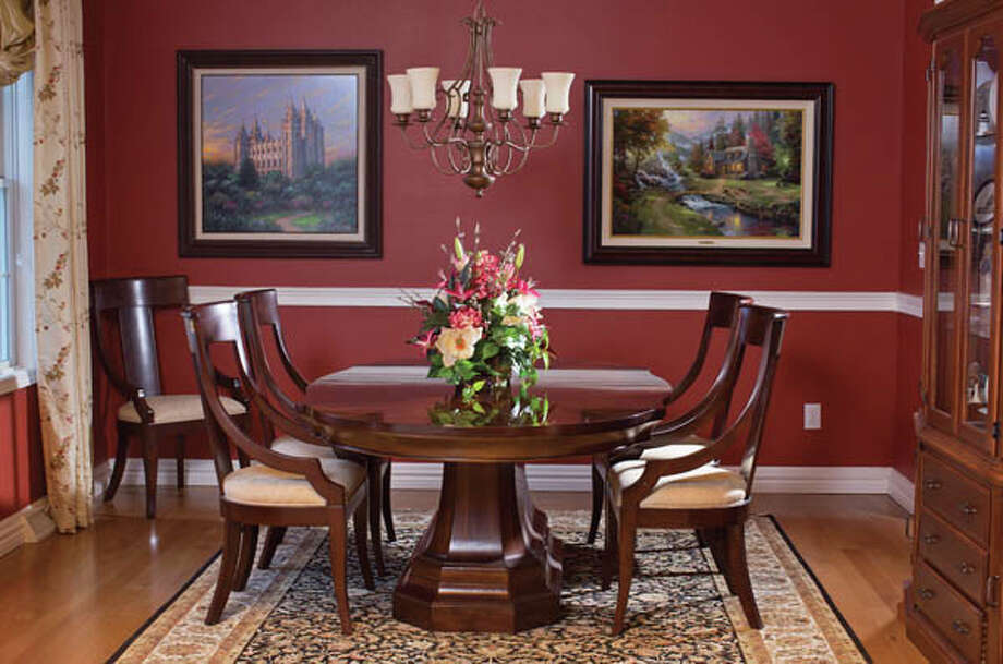 View of the dining room of Paul and J'Lene Krass' home, on Friday Jan. 25, 2013 in Saratoga Springs, NY. Photo: Philip Kamrass / Copyright 2013 Philip Kamrass