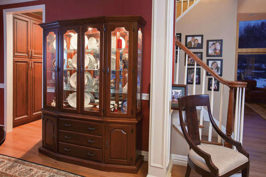 View of the china closet built by Paul Krass, in the dining room of he and his wife J'Lene's home, on Friday Jan. 25, 2013 in Saratoga Springs, NY. Photo: Philip Kamrass / Copyright 2013 Philip Kamrass