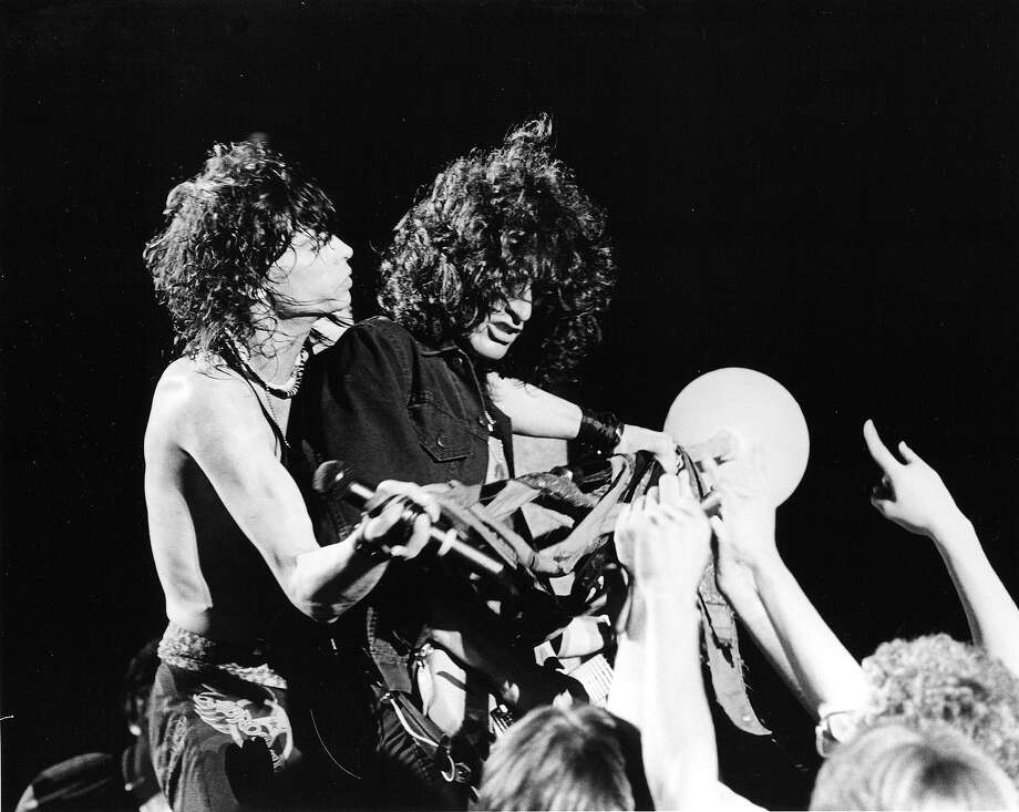 Steven Tyler and Joe Perry of Aerosmith perform in 1984. Photo: Chris Walter, Getty Images / Chris Walter