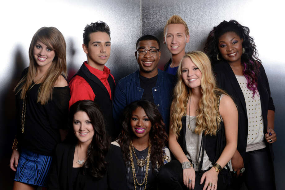 AMERICAN IDOL: TOP 8: Clockwise From Top Left: Angie Miller, Lazaro Arbos, Burnell Taylor, Devin Velez, Candice Glover, Janelle Arthur, Amber Holcomb and Kree Harrison. CR: Michael Becker/ FOX