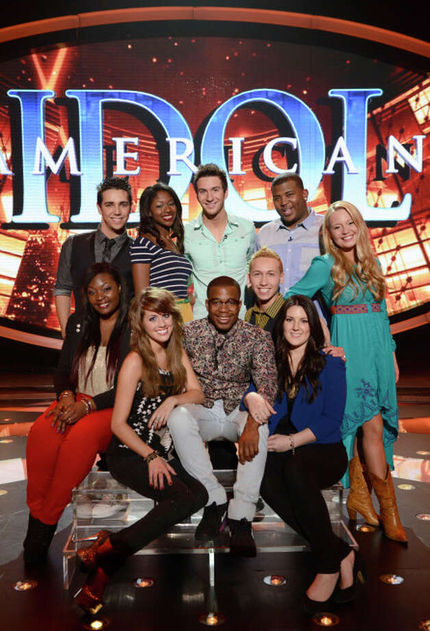 AMERICAN IDOL: TOP TEN: Clockwise From Top Left: Lazaro Arbos, Amber Holcomb, Paul Jolley, Curtis Finch, Jr., Janelle Arthur, Kree Harrison, Devin Velez, Burnell Taylor, Angie Miller and Candice Glover.  CR: Michael Becker / FOX. Copyright: FOX.