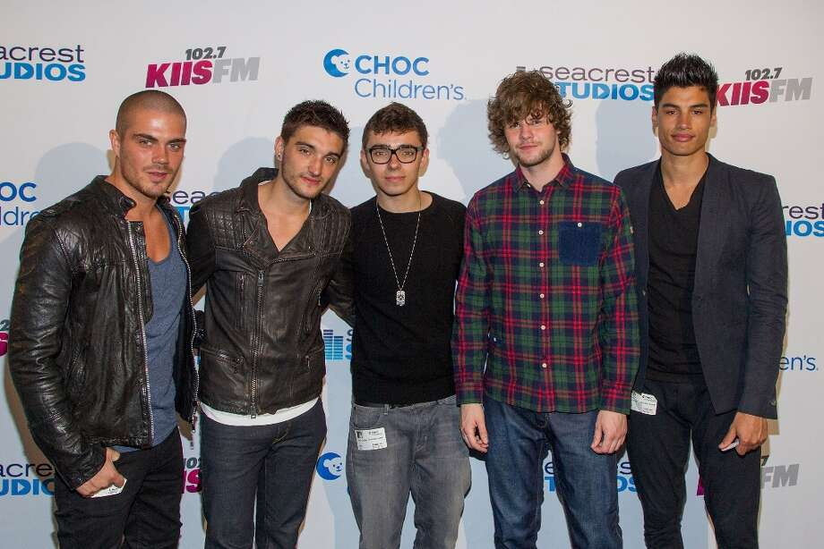 (L-R) Max George, Tom Parker, Nathan Sykes,  Jay McGuiness and Siva Kaneswaran of The Wanted attend The Ryan Seacrest Foundation makes West Coast debut of new multi-media broadcast center, Seacrest Studios, at CHOC Children's with live broadcast on KIIS FM at CHOC Children's Hospital on March 22, 2013 in Orange, California. Photo: Paul A. Hebert, Getty Images / 2013 Paul A. Hebert