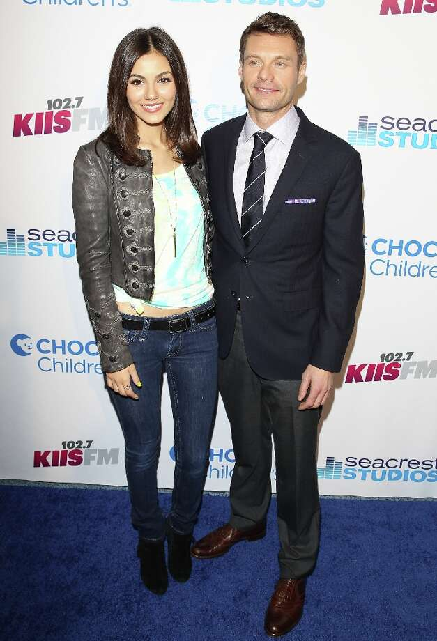 Victoria Justice and Ryan Seacrest visit The Ryan Seacrest Foundation West Coast Debut Of New Multi-Media Broadcast Center Seacrest Studios  at CHOC Children's Hospital on March 22, 2013 in Orange, California. Photo: JB Lacroix, WireImage / 2013 JB Lacroix