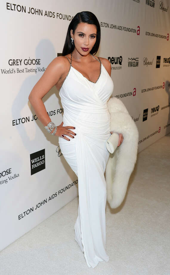 TV personality Kim Kardashian attends the 21st Annual Elton John AIDS Foundation Academy Awards Viewing Party at West Hollywood Park on February 24, 2013 in West Hollywood, California. (suggested by whiterabbit) Photo: Jason Kempin, Getty Images For EJAF / 2013 Getty Images