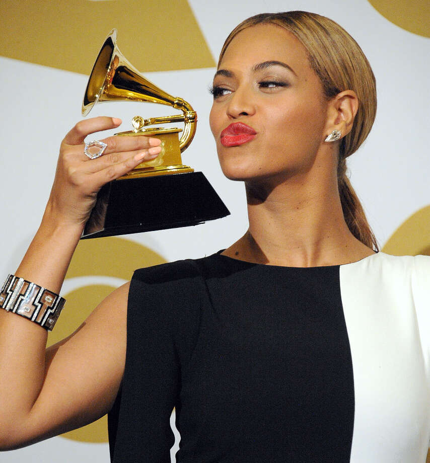 Beyonce poses at the The 55th Annual GRAMMY Awards on February 10, 2013 in Los Angeles, California. (suggested by drimblewedge) Photo: Steve Granitz, WireImage / 2013 Steve Granitz