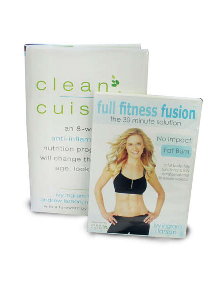 Clean and Lean:Clean Cuisine authors Ivy and Andrew Larson have created an 8-step, 8-week program that will have you living your best life by the time you're done. The book covers everything you need to choose and eat the nutrient-dense foods your body needs and craves for optimal health. Try the 30-minute workout in the book, or add Ivy's workout DVD Full Fitness Fusion that focuses on functional movements to get you strong, fit and feeling fine. $15 each. Available in bookstores, on Amazon, or visit cleancuisine.com