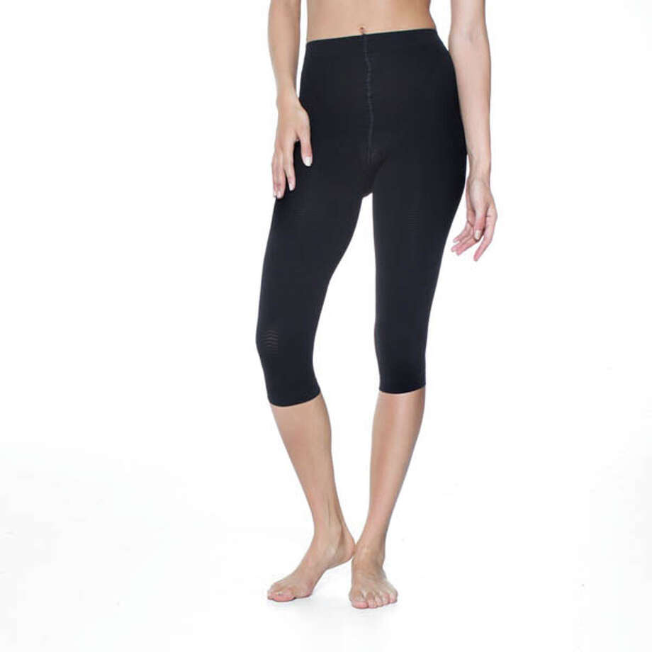 Capris that Shape:Tame those trouble spots with these Solidea Silver Wave Corsaro leggings made of special micromassaging, anti-bacterial fabric that will stay fresh and sanitary. Whether you wear them during the day or just while working out, they'll work to break down unwanted fats and fluids underneath the skin, increase circulation and reduce the appearance of cellulite. Comes in black or nude. $99. Available at Mme Pirie's Famise Corset & Lingerie Shop in Albany, on QVC or visit solideausa.com