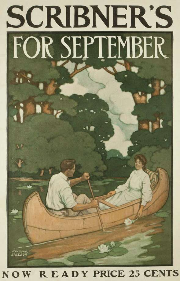 Charles Scribner's Sons publishing company and the Golden Age of the American poster are featured in a special exhibition at the New Canaan Library, opening on April 1. Photo: Contributed