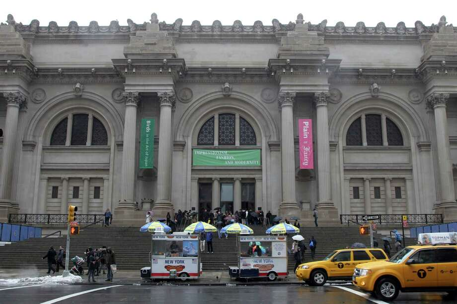 In this Tuesday, March 19, 2013 photo the exterior of the Metropolitan Museum of Art in New York is photographed. (AP Photo/Mary Altaffer) Photo: Mary Altaffer
