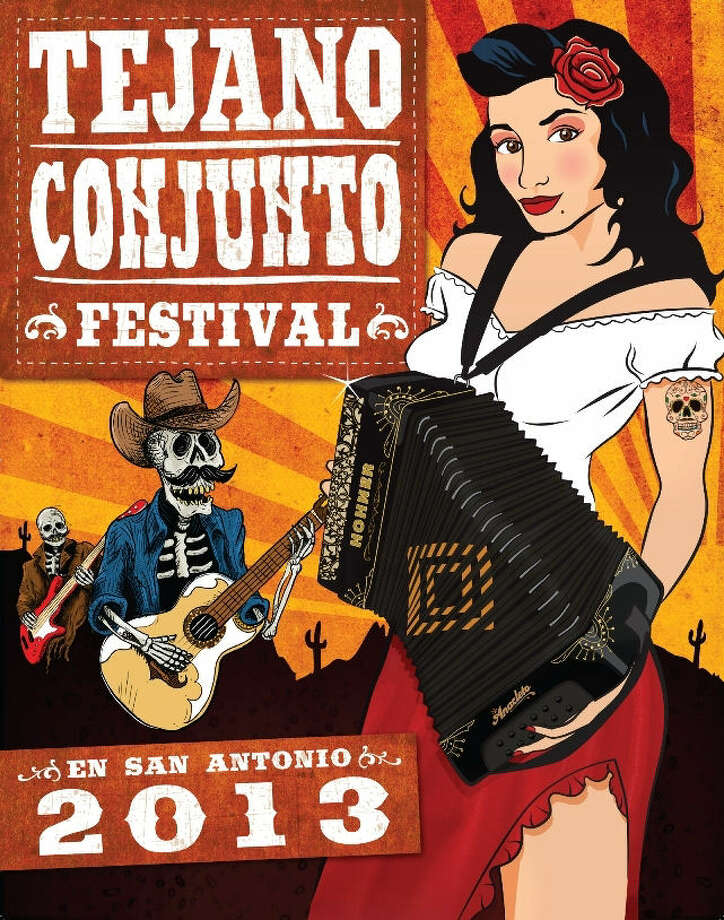 Bart Thomas' poster was named the winner to represent the 32nd annual Tejano Conjunto Festival. Photo: Courtesy Photo
