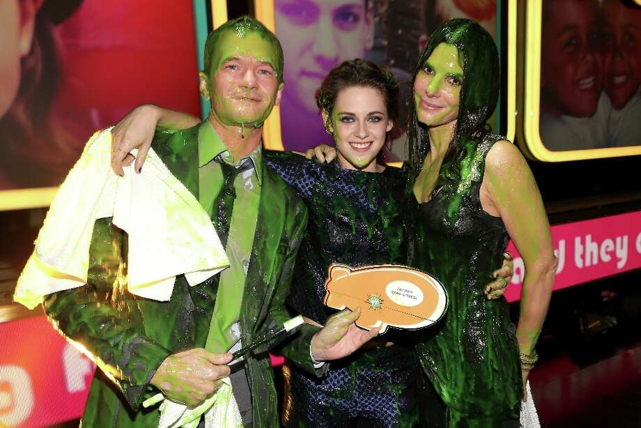 (L-R) Actors Neil Patrick Harris, Kristen Stewart, and Sandra Bullock  seen backstage at Nickelodeon's 26th Annual Kids' Choice Awards at USC Galen Center on March 23, 2013 in Los Angeles, California. Photo: Christopher Polk/KCA2013, Getty Images For KCA / 2013 Christopher Polk/KCA2013