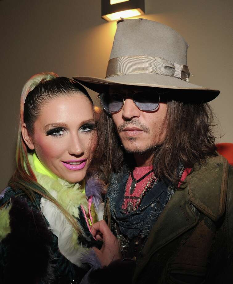 Singer Ke$ha (L) and actor Johnny Depp attend Nickelodeon's 26th Annual Kids' Choice Awards at USC Galen Center on March 23, 2013 in Los Angeles, California. Photo: Kevin Mazur/KCA2013, WireImage / 2013 Kevin Mazur/KCA2013
