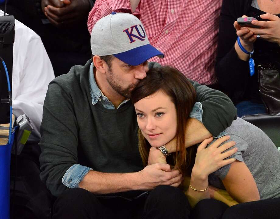 Jason Sudeikis and Olivia Wilde attend the Toronto Raptors vs New York Knicks game at Madison Square Garden on March 23, 2013 in New York City. Photo: James Devaney, WireImage / 2013 James Devaney