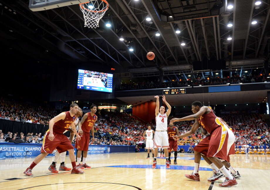 DAYTON, OH - MARCH 24: Aaron Craft #4 of the Ohio State Buckeyes shoots a free throw against the Iowa State Cyclones in the second half during the third round of the 2013 NCAA Men's Basketball Tournament at UD Arena on March 24, 2013 in Dayton, Ohio. Photo: Jason Miller, Getty Images / 2013 Getty Images