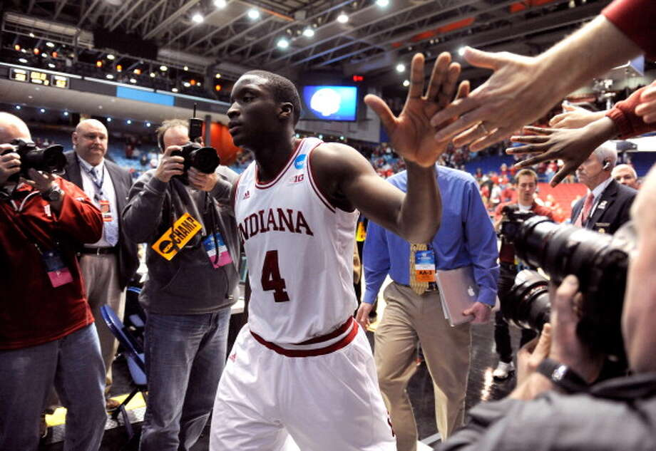DAYTON, OH - MARCH 24: Victor Oladipo #4 of the Indiana Hoosiers walks off the court after defeating the Temple Owls during the third round of the 2013 NCAA Men's Basketball Tournament at UD Arena on March 24, 2013 in Dayton, Ohio. Photo: Jason Miller, Getty Images / 2013 Getty Images