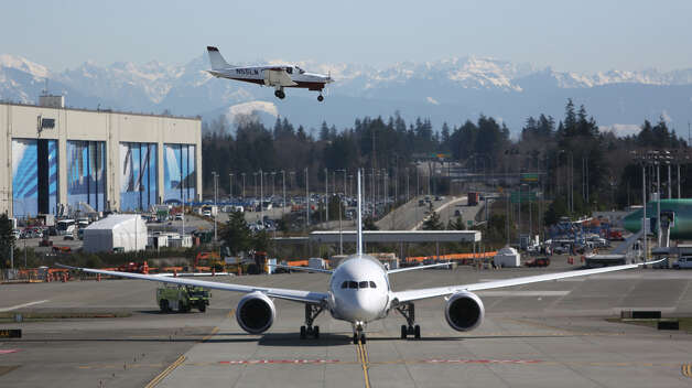 A Boeing 787 taxis on Monday, March 25, 2013 at Paine Field in Everett. Photo: JOSHUA TRUJILLO / SEATTLEPI.COM