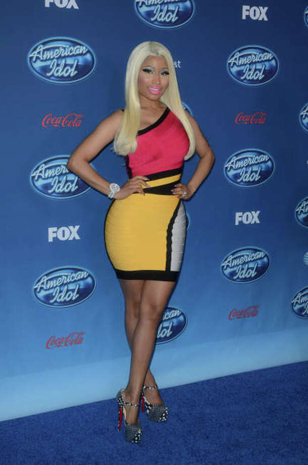 AMERICAN IDOL: Judge Nicki Minaj arrives on the blue carpet during  the AMERICAN IDOL Premiere Screening and Q & A Event at UCLA's Royce Hall in West Los Angeles, CA on Wednesday, Jan. 9.  CR: Tonya Wise/FOX / 1