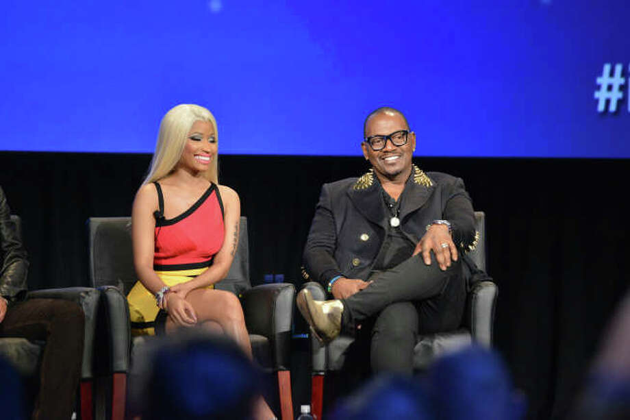 AMERICAN IDOL: Judges Nicki Minaj and Randy Jackson answer  fan's questions during the AMERICAN IDOL Premiere Screening and Q & A Event at UCLA's Royce Hall in West Los Angeles, CA on Wednesday, Jan. 9.  CR: Michael Becker/FOX